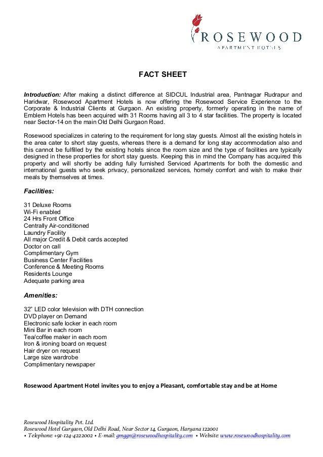Rosewood Gurgaon Fact Sheet(1)