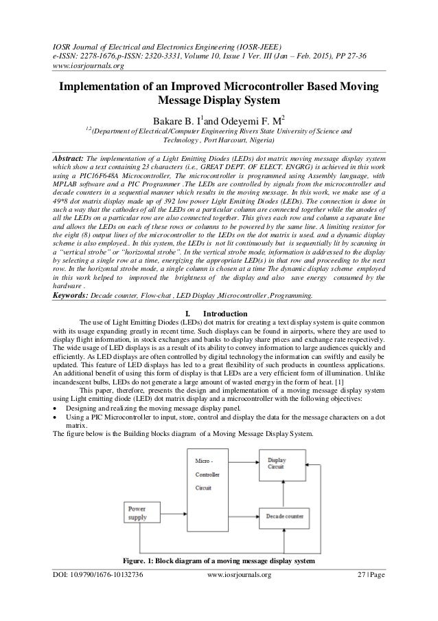 IOSR Journal of Electrical and Electronics Engineering (IOSR-JEEE) e-ISSN: 2278-1676,p-ISSN: 2320-3331, Volume 10, Issue 1...