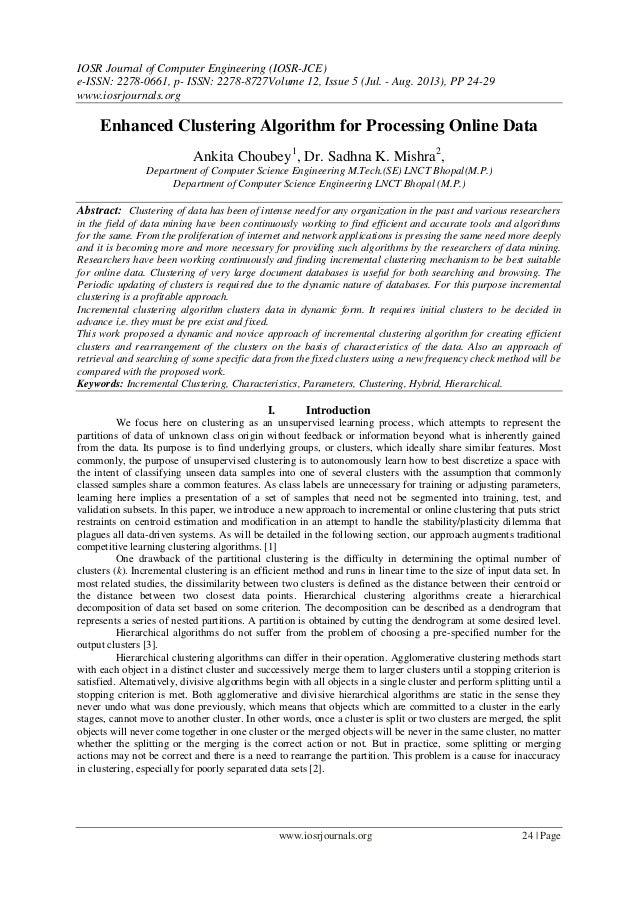 IOSR Journal of Computer Engineering (IOSR-JCE) e-ISSN: 2278-0661, p- ISSN: 2278-8727Volume 12, Issue 5 (Jul. - Aug. 2013)...