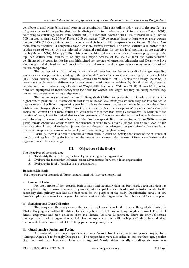 glass ceiling research paper