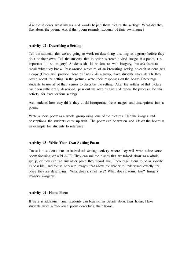 Cc Lesson Poetry Settings
