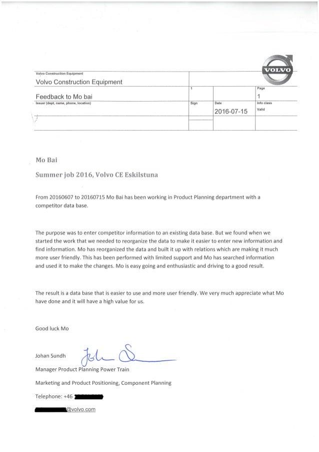 Volvo CE summer job certification