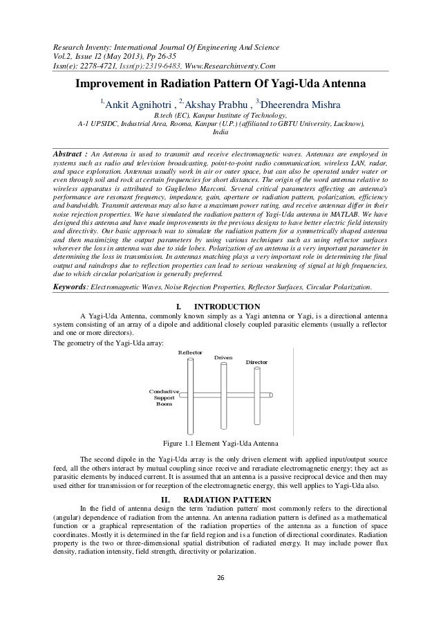 Research Inventy: International Journal Of Engineering And ScienceVol.2, Issue 12 (May 2013), Pp 26-35Issn(e): 2278-4721, ...