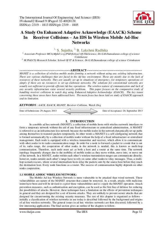 The International Journal Of Engineering And Science (IJES)   Volume  2   Issue   9   Pages   32-40  2013   ISSN(e): 2319 ...
