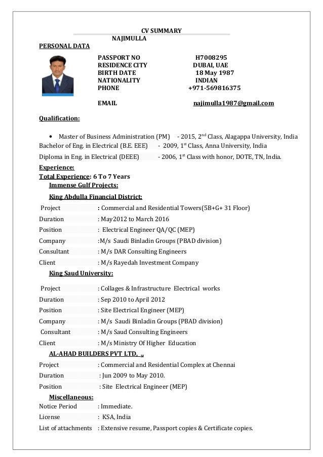 Najim updated CV