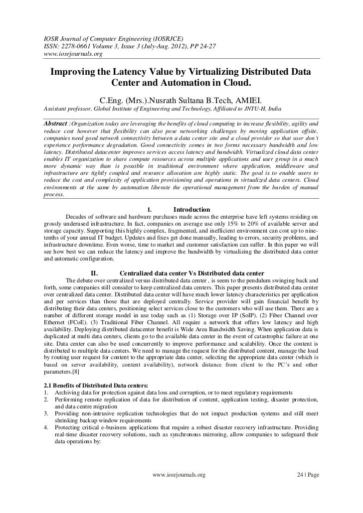 IOSR Journal of Computer Engineering (IOSRJCE)ISSN: 2278-0661 Volume 3, Issue 3 (July-Aug. 2012), PP 24-27www.iosrjournals...