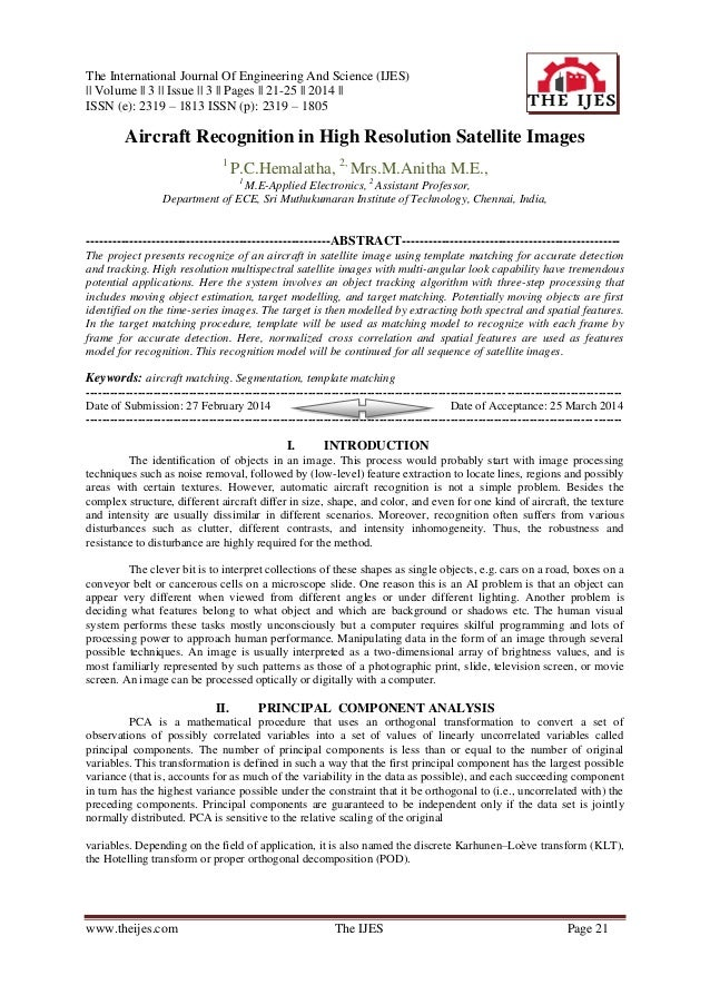 The International Journal Of Engineering And Science (IJES)    Volume    3    Issue    3    Pages    21-25    2014    ISSN...
