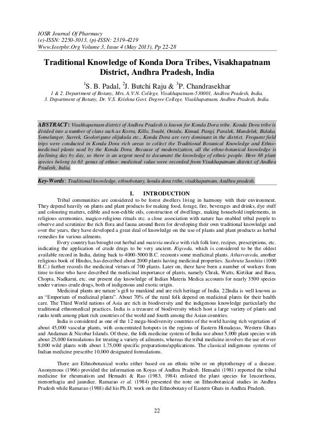 IOSR Journal Of Pharmacy(e)-ISSN: 2250-3013, (p)-ISSN: 2319-4219Www.Iosrphr.Org Volume 3, Issue 4 (May 2013), Pp 22-2822Tr...