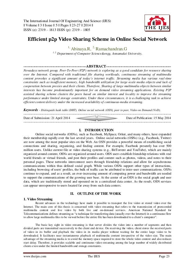 The International Journal Of Engineering And Science (IJES) || Volume || 3 || Issue || 5 || Pages || 23-27 || 2014 || ISSN...