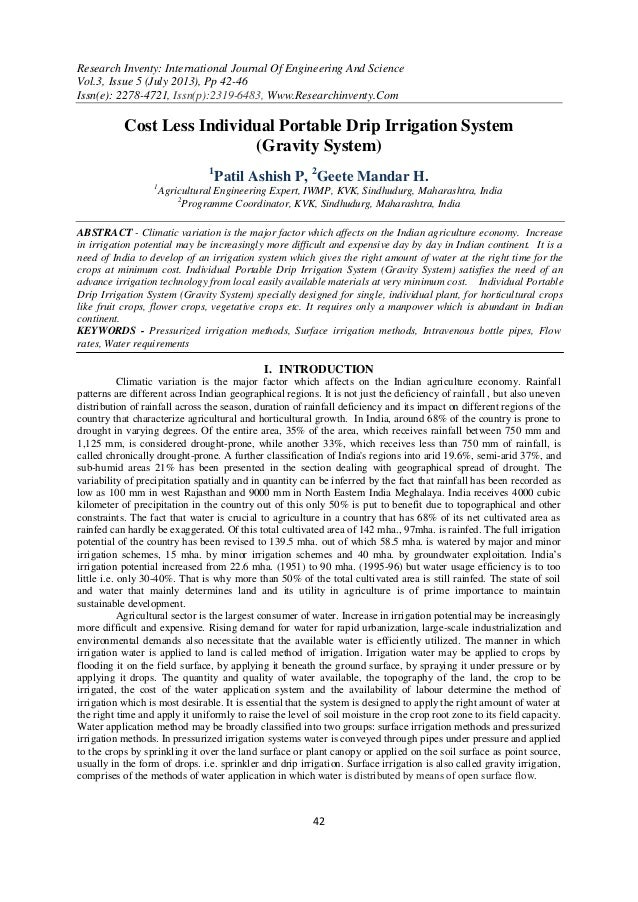 Research Inventy: International Journal Of Engineering And Science Vol.3, Issue 5 (July 2013), Pp 42-46 Issn(e): 2278-4721...