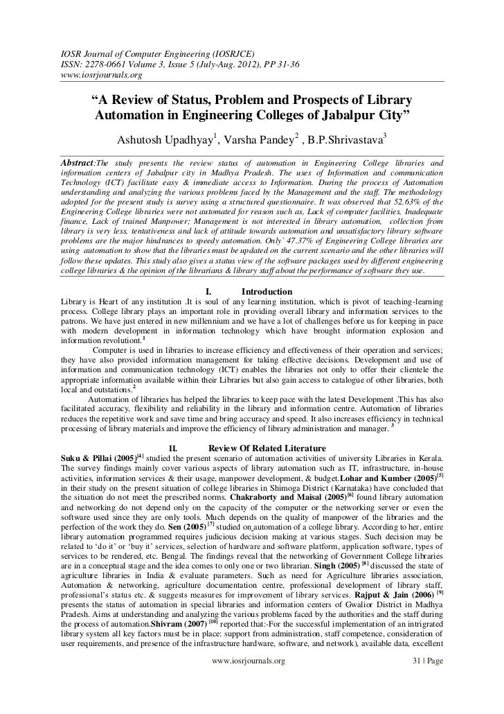IOSR Journal of Computer Engineering (IOSRJCE)ISSN: 2278-0661 Volume 3, Issue 5 (July-Aug. 2012), PP 31-36www.iosrjournals...
