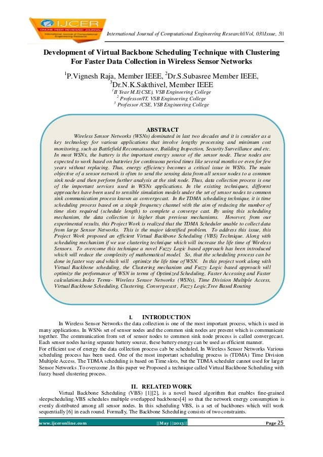 International Journal of Computational Engineering Research||Vol, 03||Issue, 5||www.ijceronline.com ||May ||2013|| Page 25...