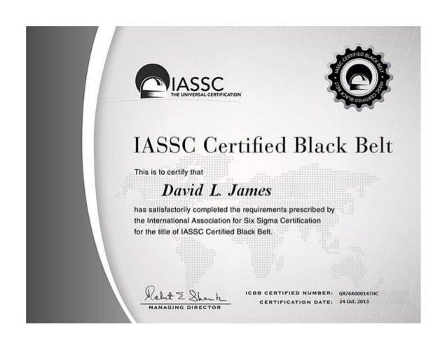 Iassc Six Sigma Black Belt Certification