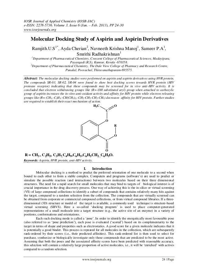 IOSR Journal of Applied Chemistry (IOSR-JAC)e-ISSN: 2278-5736. Volume 3, Issue 6 (Jan. – Feb. 2013), PP 24-30www.iosrjourn...