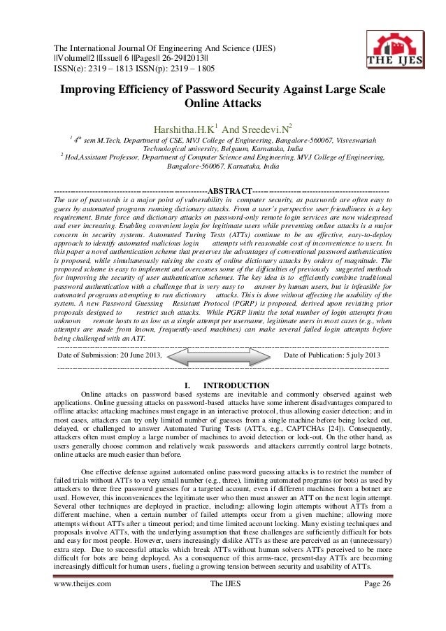The International Journal Of Engineering And Science (IJES) ||Volume||2 ||Issue|| 6 ||Pages|| 26-29||2013|| ISSN(e): 2319 ...