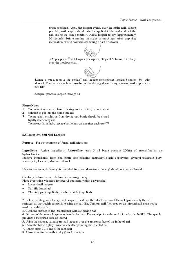 Beautiful Ciclopirox Topical Solution Nail Lacquer Sketch - Nail Art ...