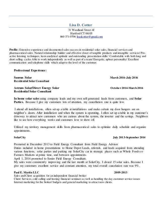 lisacotter resume 2016