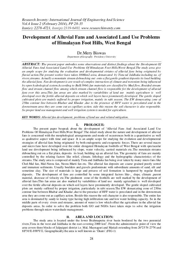 Research Inventy: International Journal Of Engineering And Science Vol.4 Issue 2 (February 2014), PP 28-35 Issn(e): 2278-4...