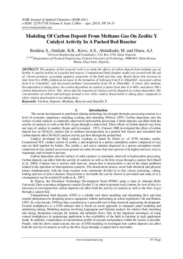 IOSR Journal of Applied Chemistry (IOSR-JAC) e-ISSN: 2278-5736.Volume 4, Issue 2 (Mar. – Apr. 2013), PP 19-31 www.iosrjour...