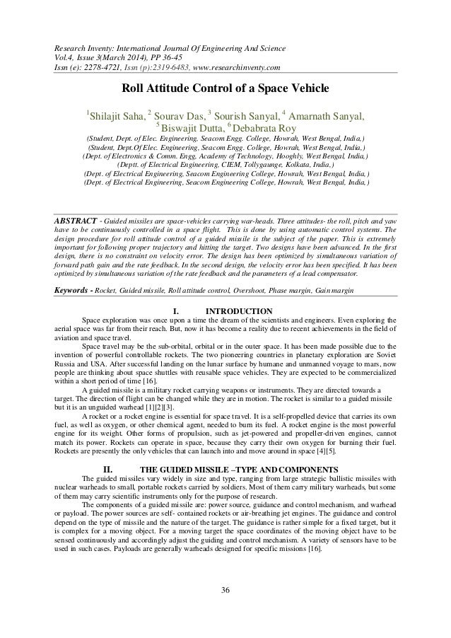 Research Inventy: International Journal Of Engineering And Science Vol.4, Issue 3(March 2014), PP 36-45 Issn (e): 2278-472...