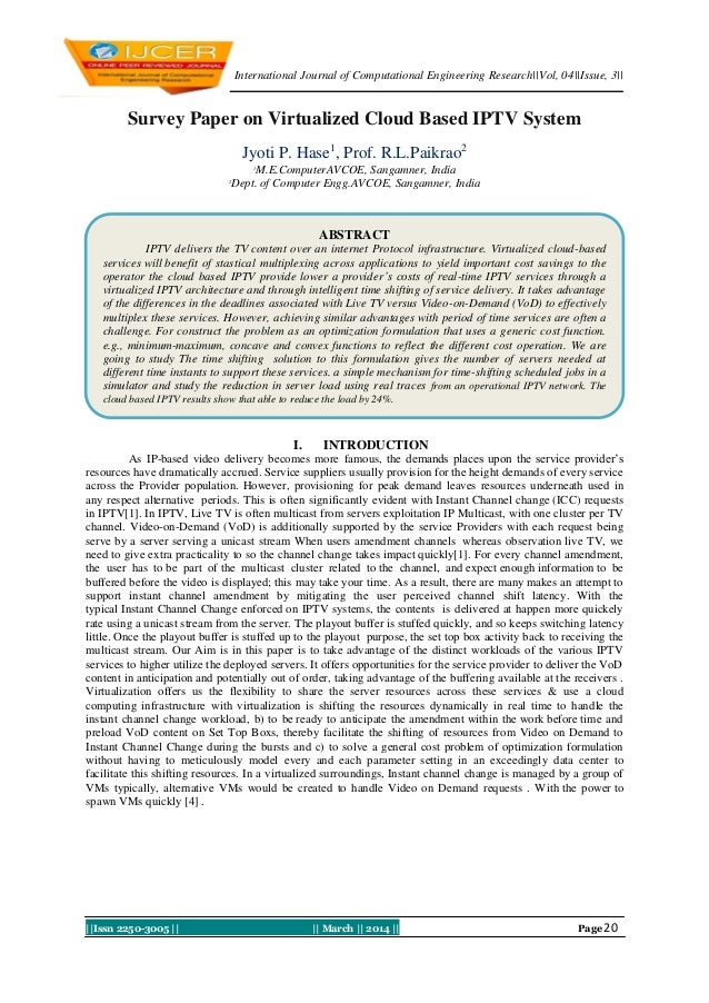 International Journal of Computational Engineering Research  Vol, 04  Issue, 3     Issn 2250-3005       March    2014    P...