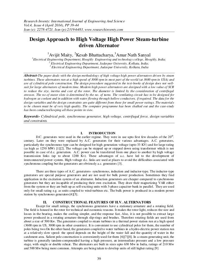 Research Inventy: International Journal of Engineering And Science Vol.4, Issue 4 (April 2014), PP 39-44 Issn (e): 2278-47...
