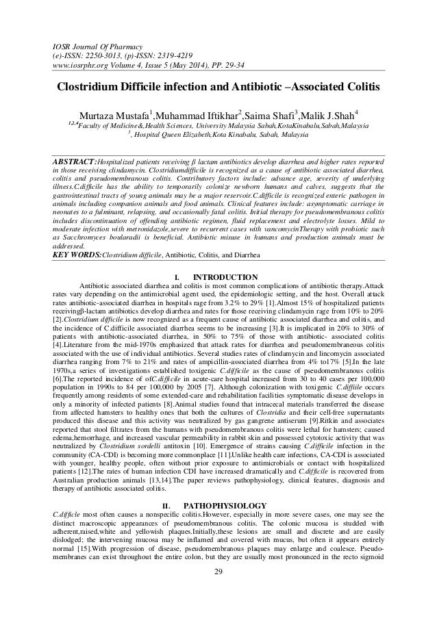 IOSR Journal Of Pharmacy (e)-ISSN: 2250-3013, (p)-ISSN: 2319-4219 www.iosrphr.org Volume 4, Issue 5 (May 2014), PP. 29-34 ...