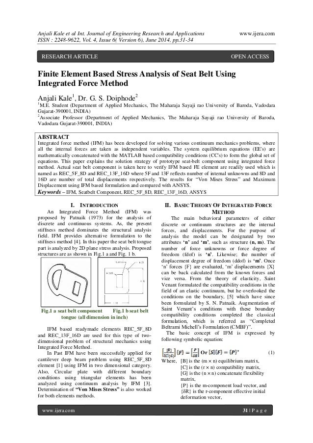 Anjali Kale et al Int. Journal of Engineering Research and Applications www.ijera.com ISSN : 2248-9622, Vol. 4, Issue 6( V...