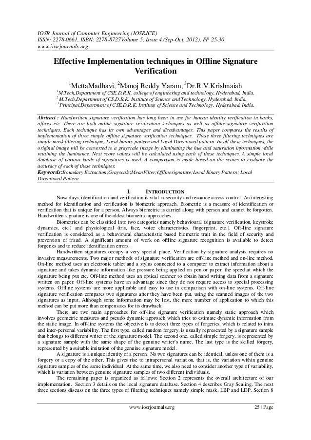 IOSR Journal of Computer Engineering (IOSRJCE) ISSN: 2278-0661, ISBN: 2278-8727Volume 5, Issue 4 (Sep-Oct. 2012), PP 25-30...