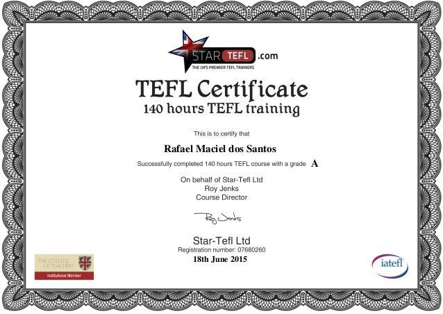 Star-Tefl Certificate