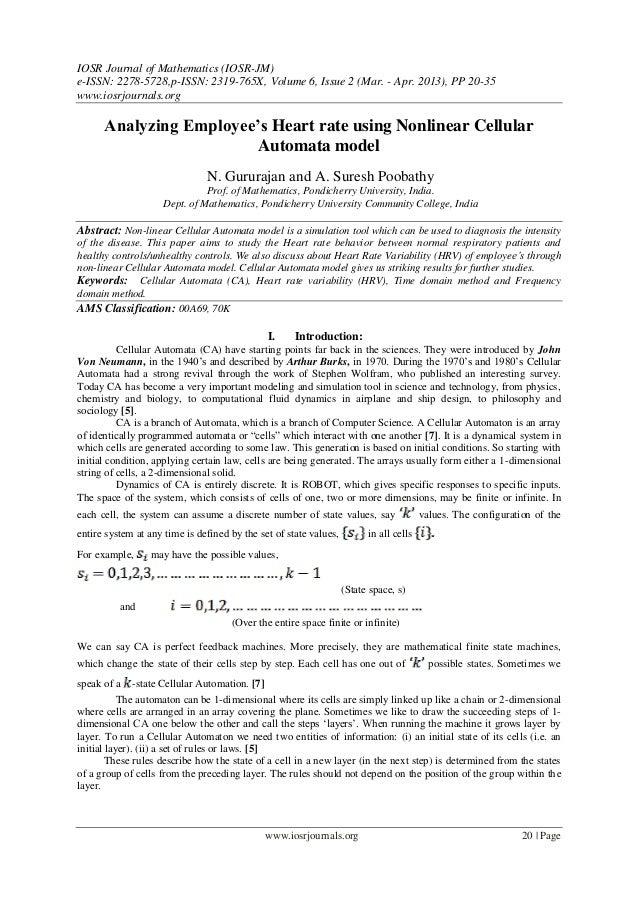 IOSR Journal of Mathematics (IOSR-JM)e-ISSN: 2278-5728,p-ISSN: 2319-765X, Volume 6, Issue 2 (Mar. - Apr. 2013), PP 20-35ww...