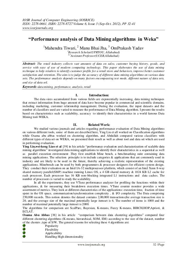IOSR Journal of Computer Engineering (IOSRJCE) ISSN: 2278-0661, ISBN: 2278-8727 Volume 6, Issue 3 (Sep-Oct. 2012), PP 32-4...