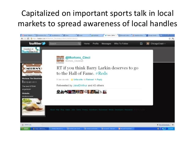 Capitalized on important sports talk in local markets to spread awareness of local handles