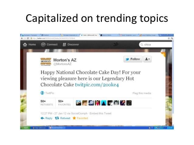 Capitalized on trending topics