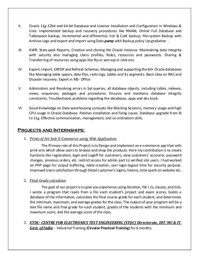 Resume Ms Dba 16