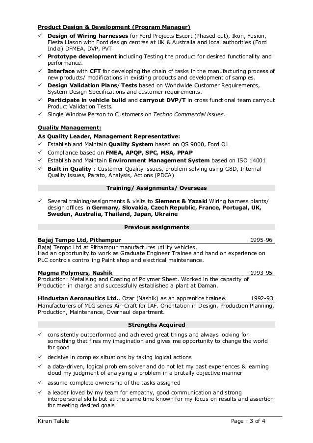 Kiran Talele Resume 2017 on