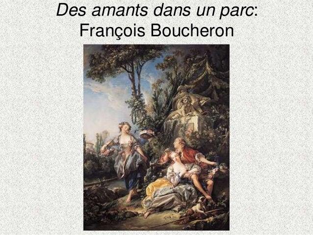 Des amants dans un parc:François Boucheron