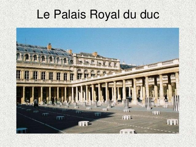 Le Palais Royal du duc