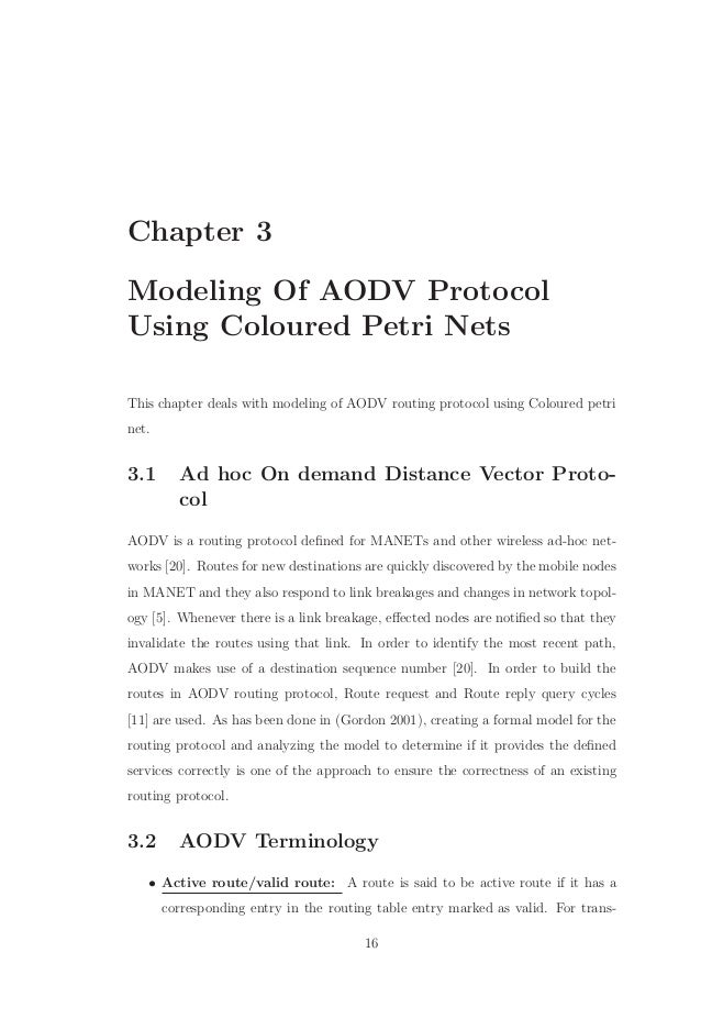 extending the aodv protocol to provide