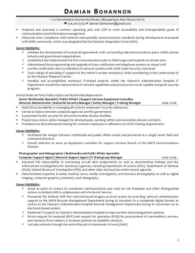 damian bohannon resume