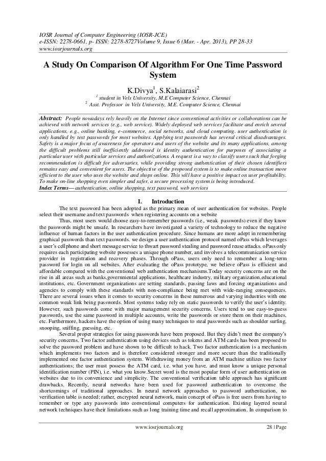 IOSR Journal of Computer Engineering (IOSR-JCE)e-ISSN: 2278-0661, p- ISSN: 2278-8727Volume 9, Issue 6 (Mar. - Apr. 2013), ...