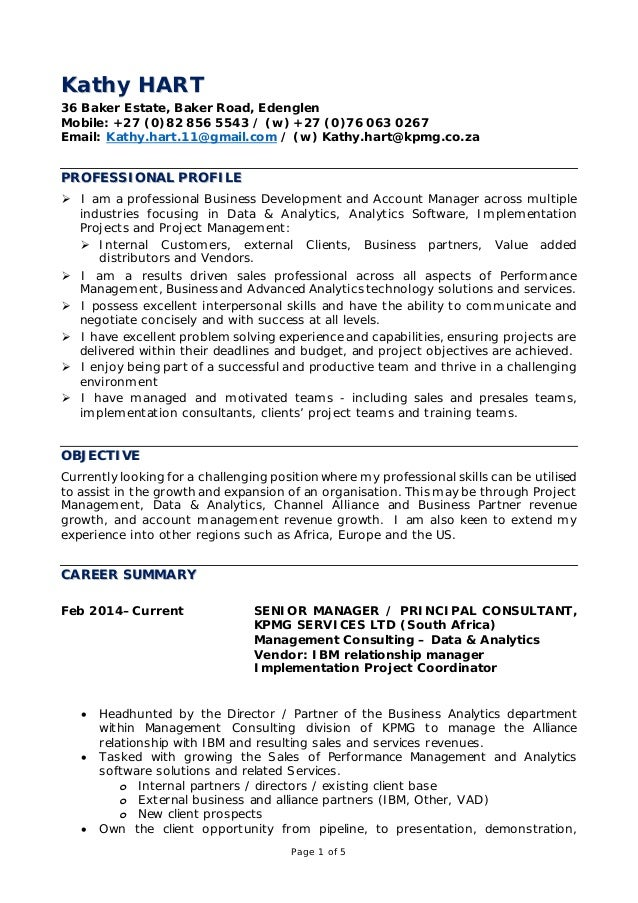 Resume Kathy Hart 2016 General