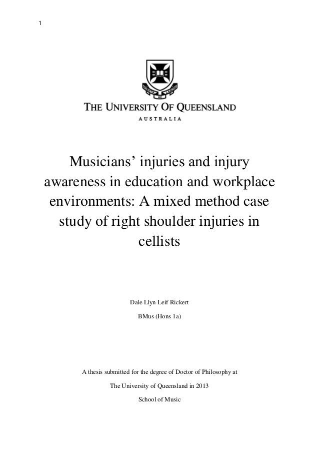 Queensland university of technology phd thesis