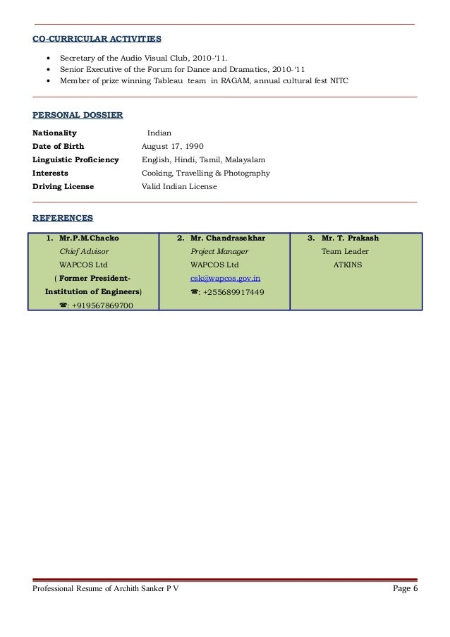 Resume Archith Sanker Atkins
