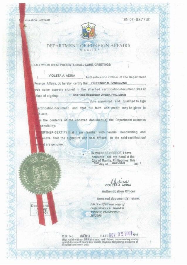 PRC Certified True Copy of Professional ID