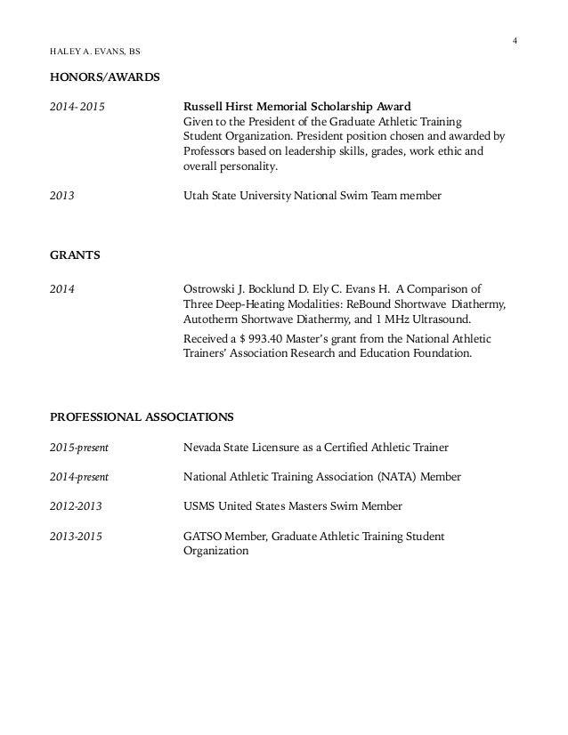 haley evans resume 2016