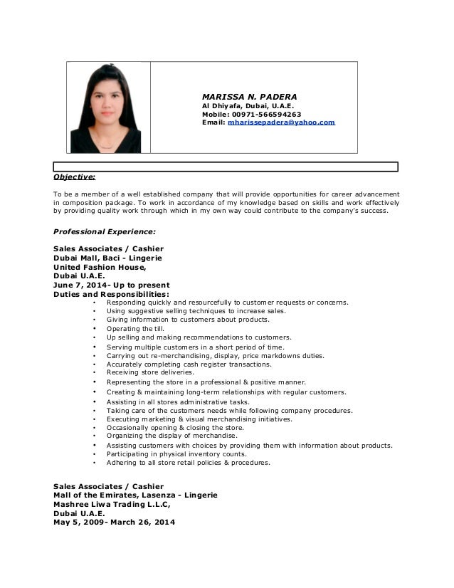 my latest cv 2015