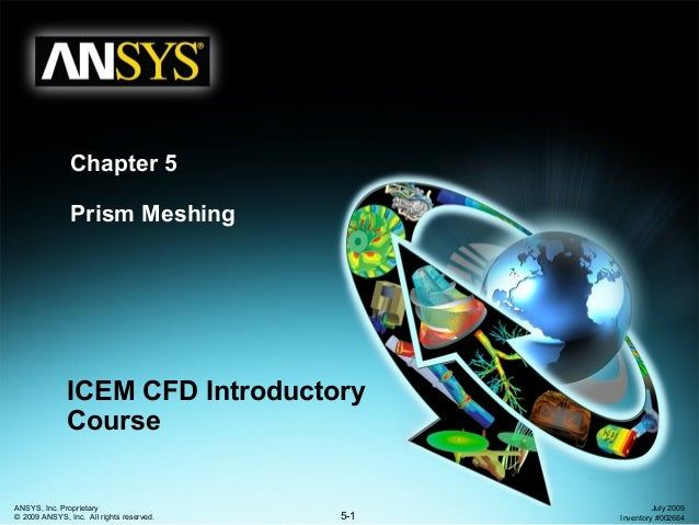 5-1 ANSYS, Inc. Proprietary © 2009 ANSYS, Inc. All rights reserved. July 2009 Inventory #002664 Chapter 5 Prism Meshing IC...