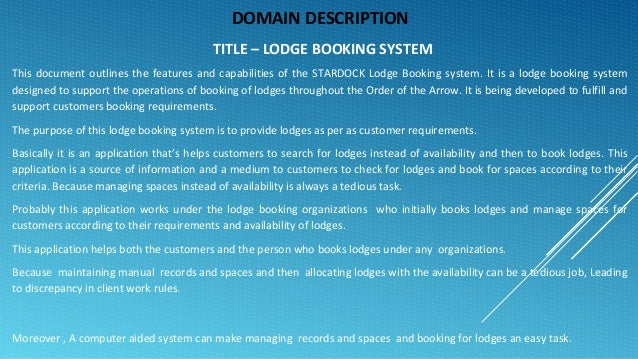 Lodge booking system
