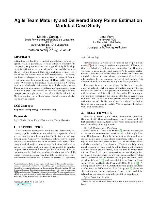 Agile Prediction Model EASE 2016 V2
